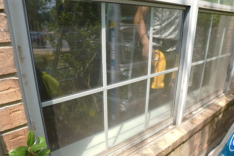 Window Cleaning Austin TX before the windows were clean